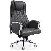 Кресло для руководителя Easy Chair 518 ML черное (натуральная кожа с компаньоном, металл)