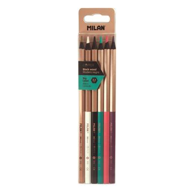 Карандаши цветные Milan Copper 6 цветов шестигранные
