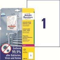 Этикетки противовирусные самоклеящиеся Avery Zweckform (L8001-10) А4 210x297 мм 1 штука на листе белые (10 листов в упаковке)