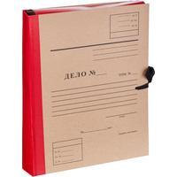 Папка архивная на 4-х завязках Attache Дело А4 50 мм бумвинил до 500 листов красная складная