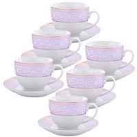 Сервиз чайный Loraine (25899) на 6 персон фарфор (6 чашек 220 мл, 6 блюдец 14 см)