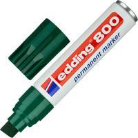Маркер перманентный Edding 800/4 зеленый (толщина линии 4-12 мм) скошенный наконечник