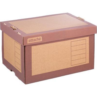 Короб архивный Attache гофрокартон коричневый 410х328х263 мм