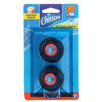 Таблетки для сливного бачка Chirton Морской 2 штуки по 50 г в упаковке