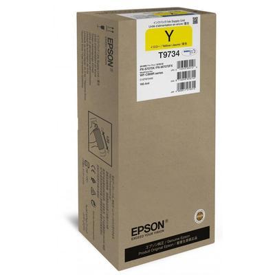 Картридж струйный Epson T9734 C13T973400 желтый оригинальный для WF-C869R