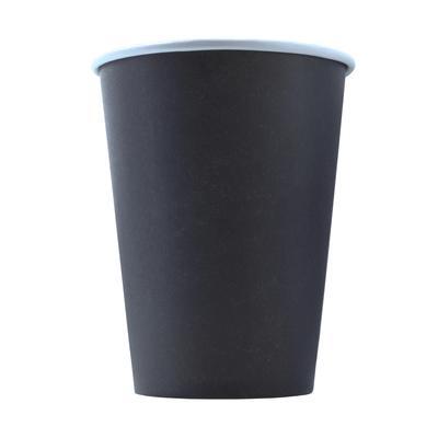 Стакан одноразовый бумажный 400 мл черный 50 штук в упаковке Комус Эконом