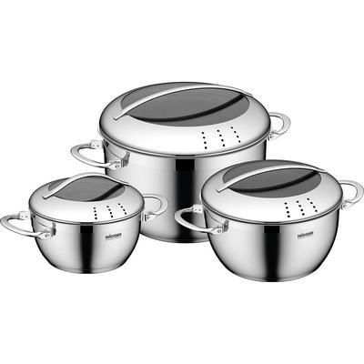 Набор посуды Nadoba Maruska нержавеющая сталь 3 кастрюли с крышкой (артикул производителя 726618)