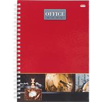 Бизнес-тетрадь Проф-пресс Офисный стиль 3 А5 80 листов красная в клетку на спирали (205х150 мм)