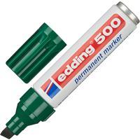 Маркер перманентный Edding 500/5 зеленый (толщина линии 2-7 мм) скошенный наконечник