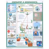 Плакат информационный компьютер и безопасность, комплект из 2-х листов