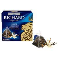 Чай Richard Royal Miss Grey Королевский Мисс Грей черный с бергамотом и ванилью 20 пакетиков
