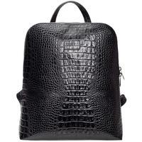 Рюкзак женский Fabula из натуральной кожи черного цвета (S.407.KM)