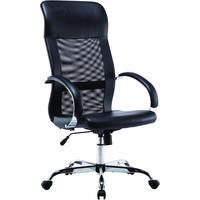 Кресло для руководителя Easy Chair 575 TPU черное (рециклированная кожа/сетка, металл)