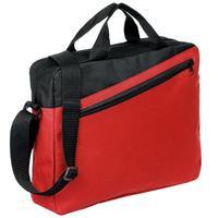 Конференц-сумка из полиэстера красная/черная (38x30x8 см)