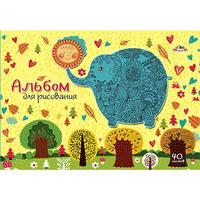 Альбом для рисования Апплика Слон и солнце А4 40 листов