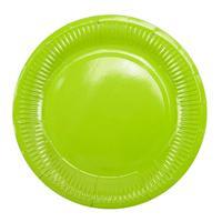 Тарелка одноразовая Пати Бум Green бумажная зеленая 18 см 6 штук в упаковке