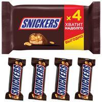Шоколадные батончики Snickers (4 штуки по 40 г)