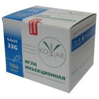 Игла инъекционная Комар 23G (0.6х25 мм, 100 штук в упаковке)