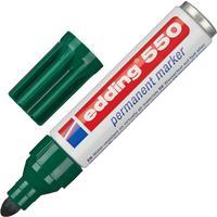 Маркер перманентный Edding 550/4 зеленый (толщина линии 3-4 мм) круглый наконечник