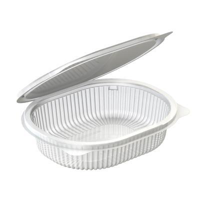 Одноразовый пластиковый контейнер Каштан для салатов 350 мл прозрачный (540 штук в упаковке)