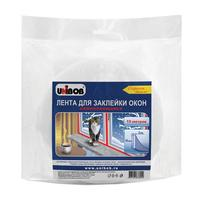 Клейкая лента для окон Unibob белая 50 мм х 2 мм х 10 м (самоклеящаяся)