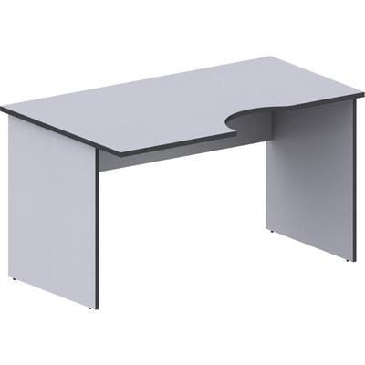 Стол эргономичный Агат АСС-33 левый серый (1400x900x750 мм)