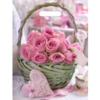 Пакет подарочный полиэтиленовый Корзина роз (40x31x5 см)