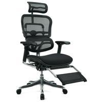 Кресло для руководителя Ergohuman Legrest W09-01 черное (сетка/ткань, металл)