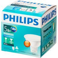 Лампа светодиодная Philips 5Вт GU5.3 спот 6500k холодный белый свет