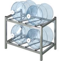 Стеллаж для бутилированной воды Бомис-4Л на 4 тар по 19л металлик