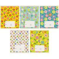 Тетрадь школьная Канц-Эксмо Цветы А5 18 листов в линейку на скрепке (обложка в ассортименте)