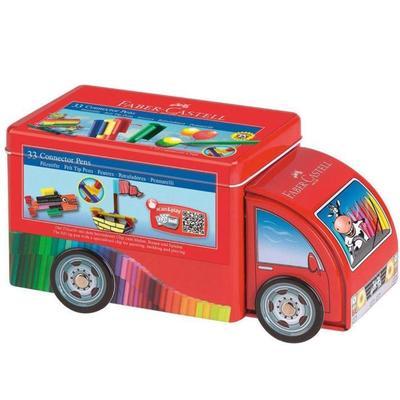Набор для рисования Faber-Castell Connector Truck 33 цвета