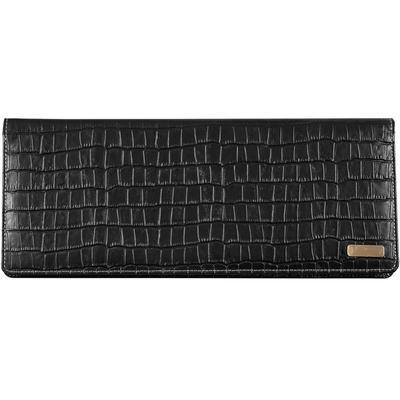 Планинг недатированный Boncarnet Prestige Croco натуральная кожа 190 листов черный (330x150 мм)