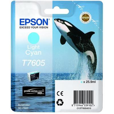 Картридж струйный Epson T760 C13T76054010 светло-голубой оригинальный