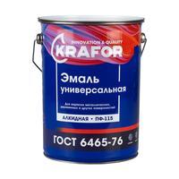 Эмаль универсальная Krafor ПФ-115 шоколадная глянцевая 6 кг