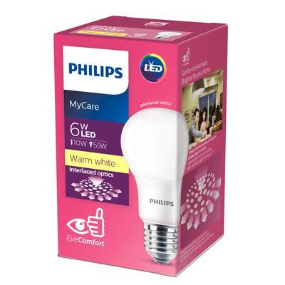 Лампа светодиодная Philips 6 Вт E27 грушевидная 3000 К теплый белый свет