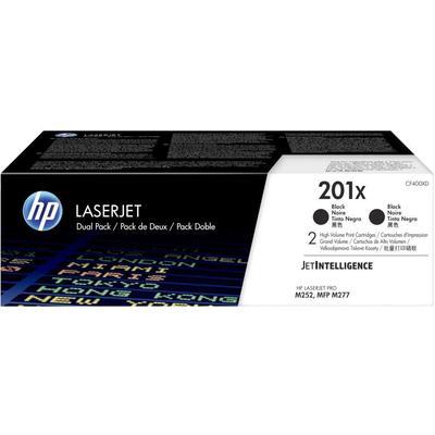 Картридж лазерный HP 201X CF400XD черный оригинальный повышенной емкости (двойная упаковка)