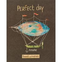 Тетрадь общая Kroyter Perfect day А5 48 листов в клетку на скрепке
