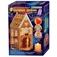 Набор для творчества Клевер Пряничный  изготовление фонарика-домика