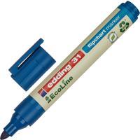 Маркер для бумаги для флипчартов Edding 31/3 Ecoline синий (толщина линии 1.5-3 мм) круглый наконечник
