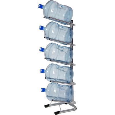 Стеллаж для бутилированной воды Бридж-5 на 5 тар по 19л серый