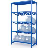 Стеллаж для бутилированной воды Бомис-12П на 12 тар по 19л синий