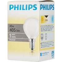 Лампа накаливания Philips 40 Вт E14 шаровидная матовая 2700 К теплый белый свет