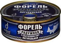 Форель радужная Эко Фуд в собственном соку 240 г