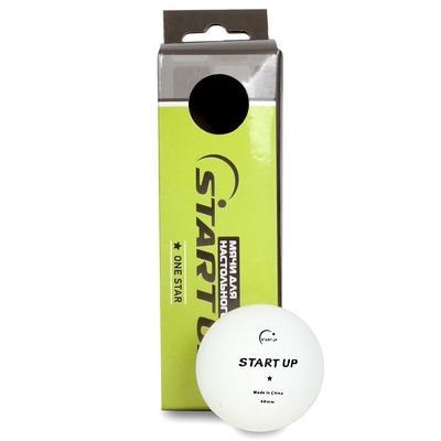 Набор мячиков для настольного тенниса Start Up 1 Star BA-01 (3 штуки)