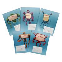 Тетрадь школьная Канц-Эксмо Роботы А5 24 листа в клетку (обложка в ассортименте)