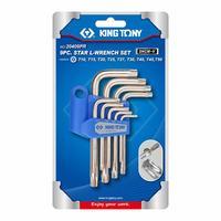 Набор ключей King Tony Г-образных TORX T10-T50 с отверстием 9 предметов (20409PR)