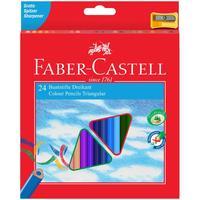 Карандаши цветные Faber-Castell 24 цвета трехгранные с точилкой
