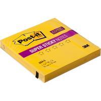 Стикеры Post-it 76x76 мм неоновые желтые (1 блок, 90 листов)