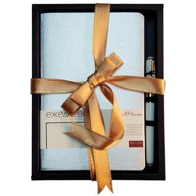 Набор подарочный Bruno Visconti Megapolis Flex (ежедневник серебристый, ручка)